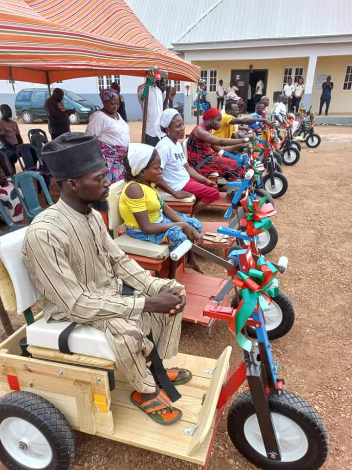 Bishop Philip Dung Donate Wheelchairs to the Physically Challenged